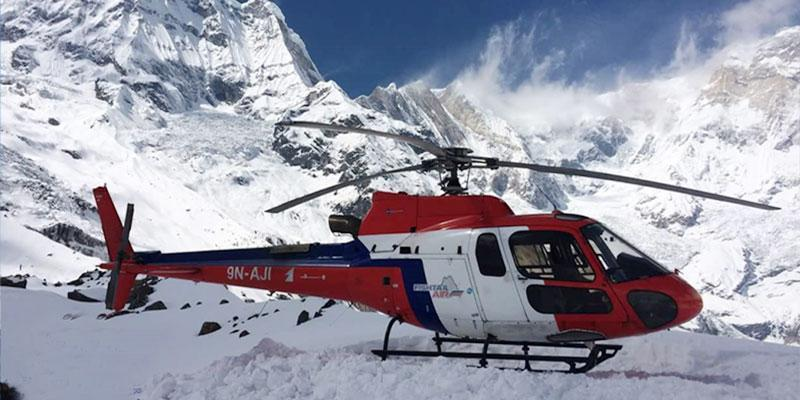 Group Joining Pokhara to Annapurna Base Camp by Helicopter Flight