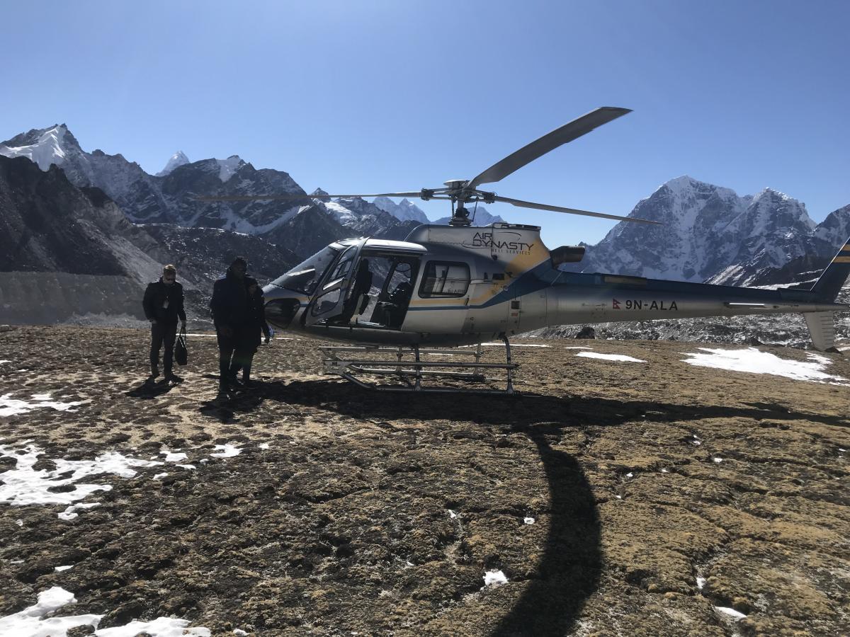 Everest Helicopter Pickup Service