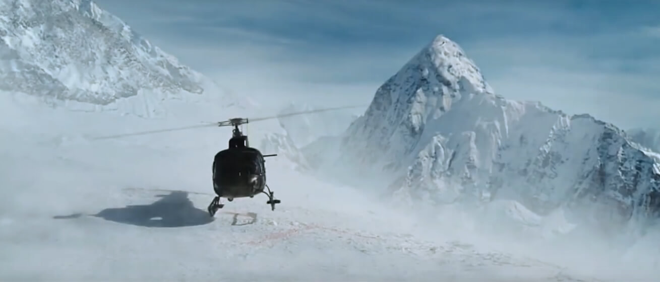 Rescue by Helicopter in Mountain