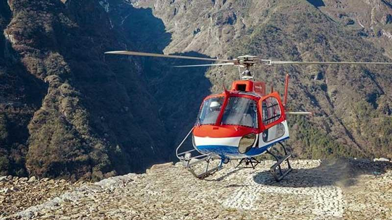 Namche to Lukla Helicopter Flight