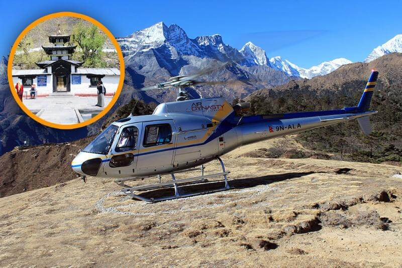 Pilgrimage tour by Helicopter