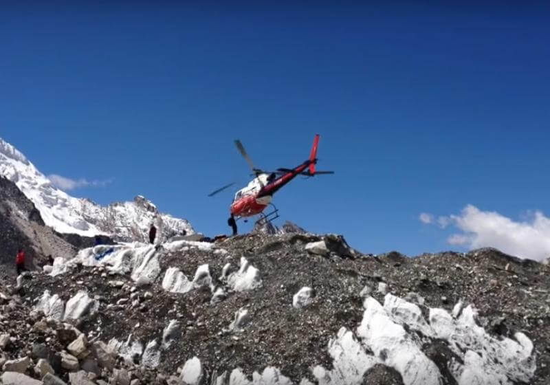 Rescue by Helicopter from Everest