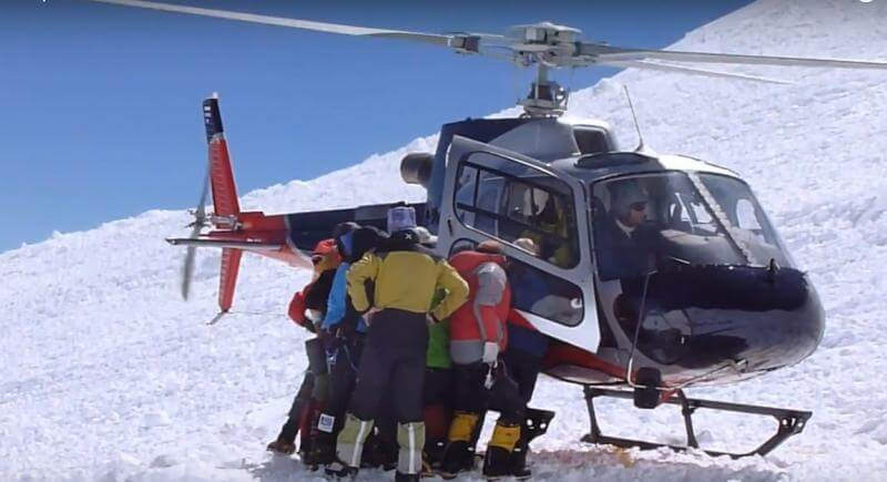 Manaslu helicopter rescue