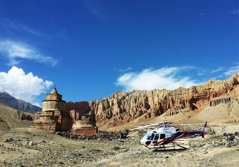 Upper Mustang Helicopter Ride